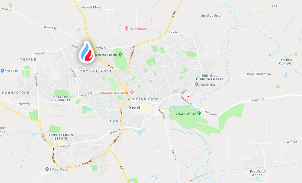 Location map for Mark 1 Plumbing & Heating